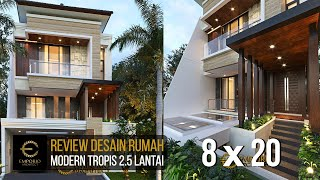 Video Desain Rumah Modern 2.5 Lantai Ibu Devi di  Jakarta