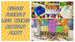 Budget Friendly Lego Themed Birthday Party