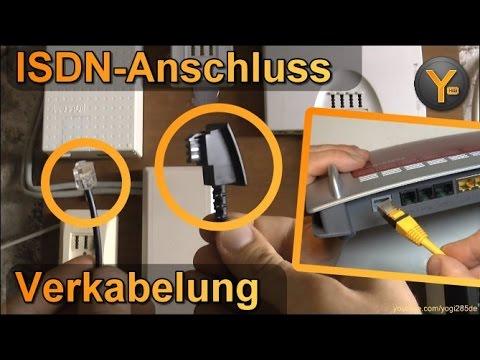 Anleitung: DSL-Verkabelung am ISDN-Anschluss / Router verbinden