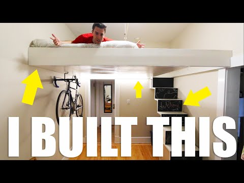 DIY Loft Bed and Staircase Build With $Free.99 Plans