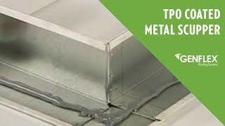 TPO Coated Metal Scupper