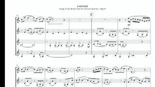Songs Of The British Isles - Clarinet Quartet