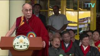 ༸གོང་ས་མཆོག་གིས་སྲིད་སྐྱོང་ལས་ཡུན་གཉིས་པའི་དམ་འབུལ་མཛད་སྒོར་བཀའ་སློབ་སྩལ་བ།