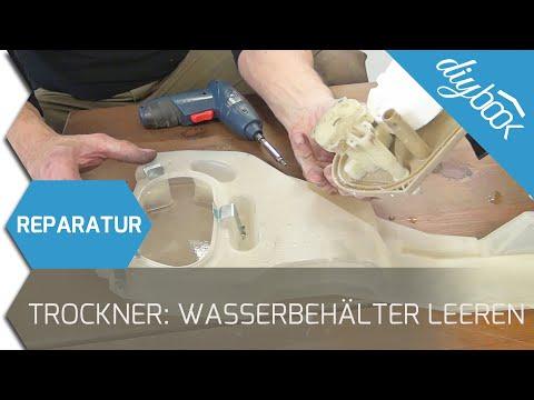 Fehlermeldung Wasserbehälter leeren - Flusensumpf reinigen (Bauknecht/Whirlpool)