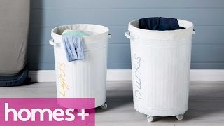 DIY PROJECT: Laundry Basket - Homes+