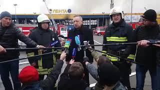 Беглов на месте пожара заявил о возможном выделении допсредств на систему дымоудаления