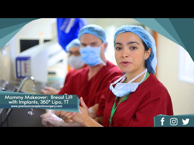 Mommy Makeover:  Breast Lift with Implants, 360° Liposuction, Tummy Tuck