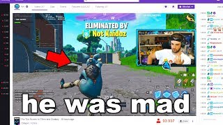 I Stream Sniped Him until he DELETED Fortnite...