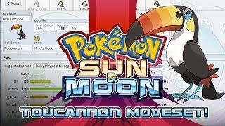 Toucannon  - (Pokémon) - Toucannon Moveset Guide! How to use Toucannon! Pokemon Sun and Moon! w/ PokeaimMD!