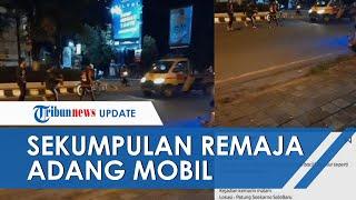 Viral Video Gerombolan Remaja Adang Mobil Melintas di Solo Baru Sukoharjo, Begini Kata Polisi