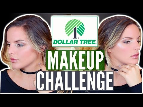 FULL FACE USING DOLLAR TREE MAKEUP CHALLENGE! $11.00 Makeup Tutorial | Casey Holmes