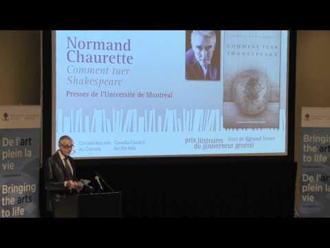 Vidéo de Normand Chaurette