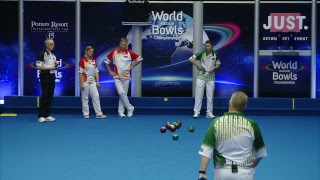 Just. 2019 World Indoor Bowls Championships: Day 8 Session 3