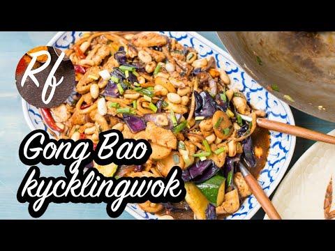 En klassisk kinesisk wok med jordnötter, sichuanpeppar och hel torkad chili. Gong Bao är kortfattat kycklingfilé i kuber wokad med hel het chili och Sichuanpeppar. Gillar du het mat så har du hittat rätt. Vill du inte ha kycklingen så het kan du dra ner p>