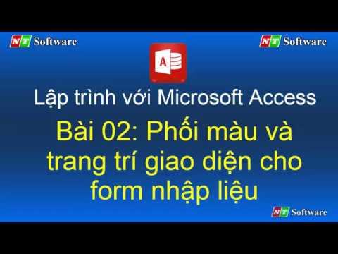 Bài 02: Lập trình với Microsoft Access và VBA Access - NT Software
