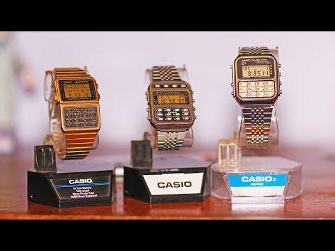1980's Casio Calculator watches CA-851 CFX-200 DBC-620