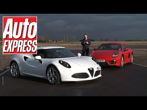 Alfa Romeo 4C vs Porsche Cayman on track