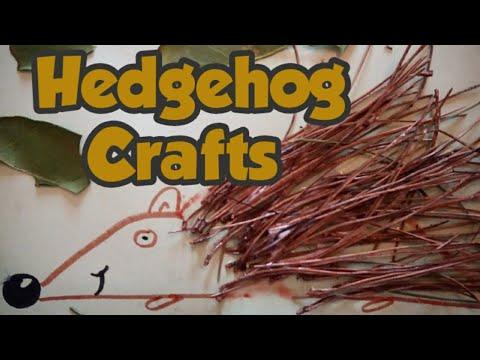 Hedgehog crafts - nature crafts - kids craft ideas