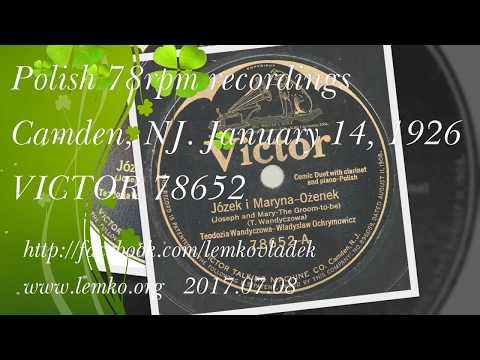 Polish 78rpm recordings, 1926. VICTOR 78652. Jezek i Maryna - Ożenek (Teodozia Wandycz)