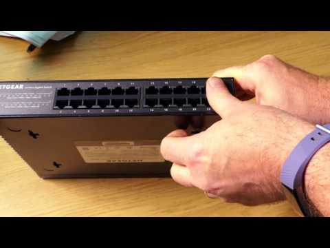 NETGEAR GS324 24 PORT SWITCH UNBOXING