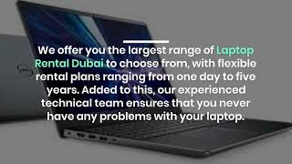 Why Would you Rent Laptops Online in Dubai?