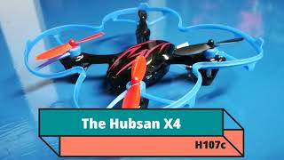 Camera drone footage blizzard conditions - Hubsan X4 H107c