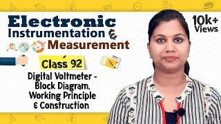 Digital Voltmeter - Block Diagram, Working Principle & Construction - Electronic Instrumentation