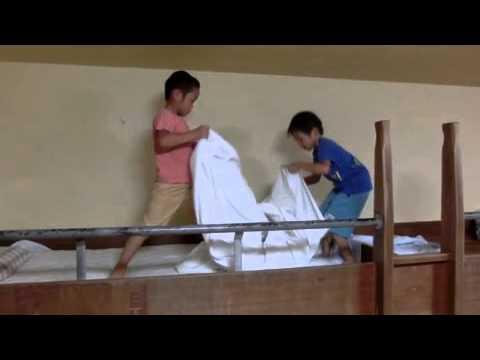 千々石少年自然の家 就寝準備:加津佐若木保育園