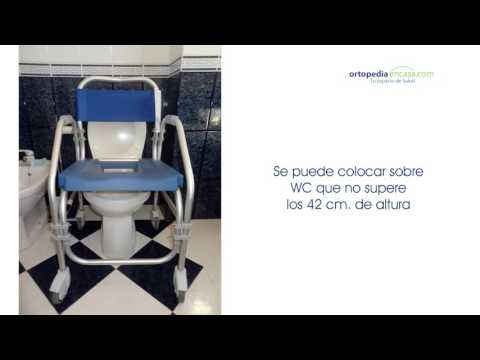 Silla de ruedas Pacific para Ducha y WC. Ortopediaencasa.com