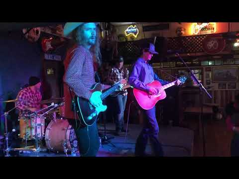 """Here's me performing a guitar solo in the country standard """"Folsom Prison Blues"""" with the Curtis Grimes Band out in Alpine, Texas"""