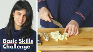 50 People Try to Peel and Cube a Potato | Basic Skills Challenge | Epicurious