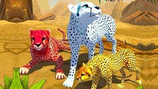 СИМУЛЯТОР ДИКОЙ КОШКИ #3 Родился котенок у гепарда развлекательное видео для детей #КИД #ПУРУМЧАТА