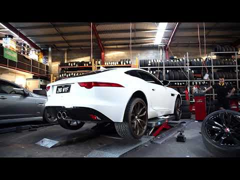Jaguar F Type fitted with Satin Bronze Asanti ABL-19