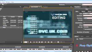 How to create a simple dvd menu in adobe encore cs6 using the chapter index in adobe encore cs5 to make menus maxwellsz