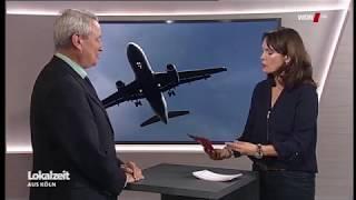 WDR Lokalzeit Berichterstattung und Interview zum Thema Nächtl. Fluglärm im Kölner Süden