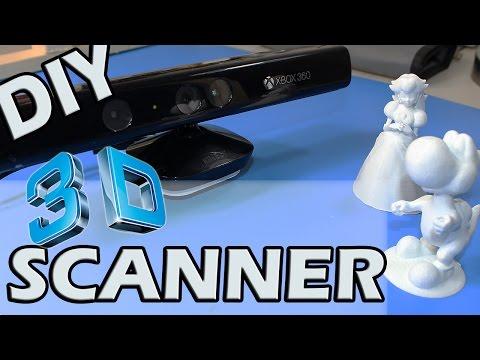COMO HACER UN ESCANER 3D CASERO CON SENSOR KINECT - RECICLADO (DIY 3D SCANNER)