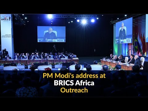 PM Modi's address at BRICS Africa Outreach