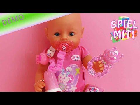 High Value Baby Born Set mit Windeln, Schnuller, Fläschchen und Rassel