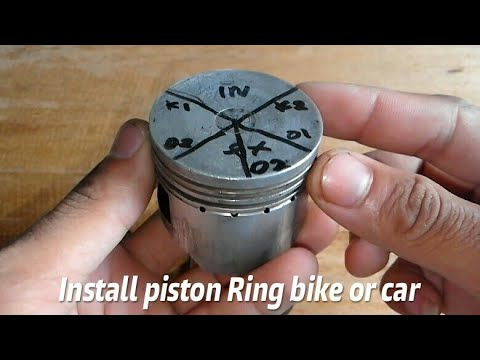 How to install piston ring 4 strokes motorcycle or car is correct