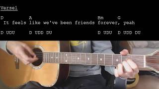 Jason Mraz   More Than Friends Feat. Meghan Trainor EASY Guitar Tutorial With ChordsLyrics