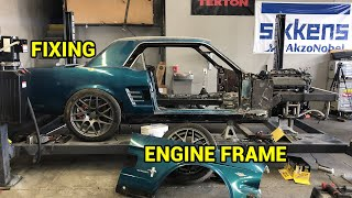 Fixing My Custom Engine Frame For My Coyote Swapped 1966 Ford Mustang