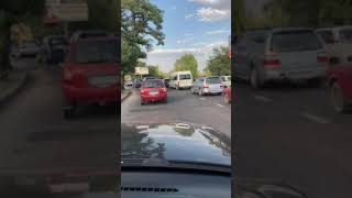 На въезде в Николаев автомобили снова «застыли» в пробке. Видео