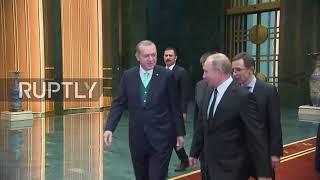 Turkey: Erdogan welcomes Putin in Ankara ahead of bilateral talks