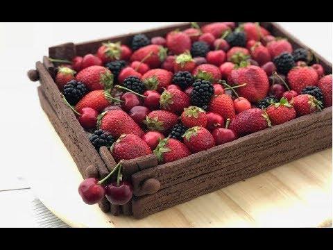 Torta cassetta di frutta,  EFFETTO WAW