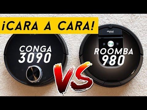 Conga 3090 vs Roomba 980 - ¡La comparativa definitiva! (Con prueba de residuos incluída)
