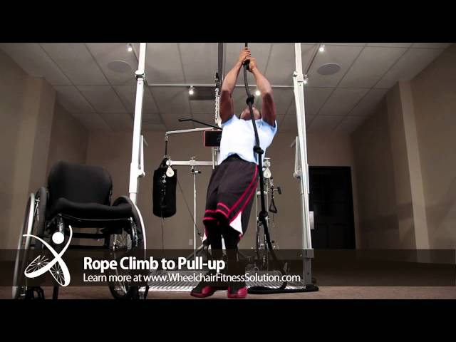 Wheelchair Fitness Solution | Exercise: Rope Climb to Pull up (1 of 40)