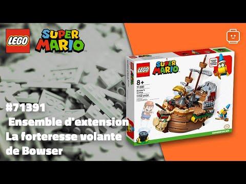 Vidéo LEGO Super Mario 71391 : Ensemble d'extension La forteresse volante de Bowser
