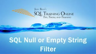 SQL Null or Empty   How to Check for Null or Empty Column in SQL Server   SQL Training Online