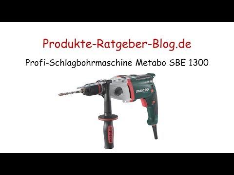 Test Profi-Schlagbohrmaschine Metabo SBE 1300