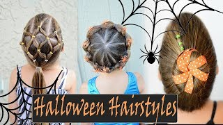LITTLE GIRL HALLOWEEN HAIRSTYLE COMPILATION- DIY HALLOWEEN HAIRSTYLES